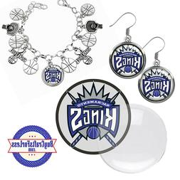 FREE DESIGN > SACRAMENTO KINGS -Earrings, Pendant, Bracelet,
