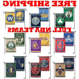 "FULL NBA 2018 Outdoor Garden Flag Double Sides 12x18"" - Pick"