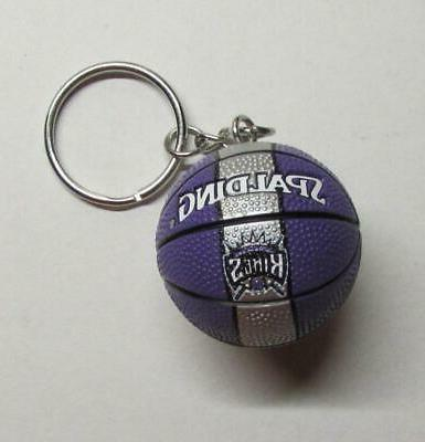 nba basketball sacramento kings spalding ball key