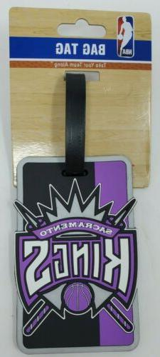 NBA Sacramento Kings Basketball Luggage Tag Travel Bag ID Go