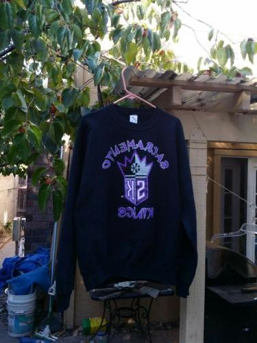 vtg 90 s sacramento kings russell sweater