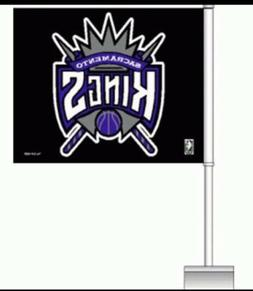 New Sacramento Kings Car Flags 2-Sided Car Window Flags NBA