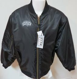 NEW Sz S-3XL Black Full Zip Up NBA Quilted Lining MEN Polyes