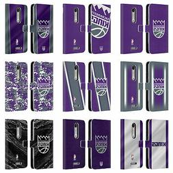 OFFICIAL NBA SACRAMENTO KINGS LEATHER BOOK WALLET CASE FOR M