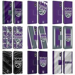 NBA SACRAMENTO KINGS LEATHER BOOK WALLET CASE COVER FOR APPL