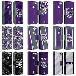 OFFICIAL NBA SACRAMENTO KINGS LEATHER BOOK WALLET CASE FOR G