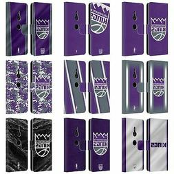 OFFICIAL NBA SACRAMENTO KINGS LEATHER BOOK WALLET CASE FOR S