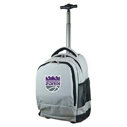 Sacramento Kings 19'' Premium Wheeled Backpack - Gray
