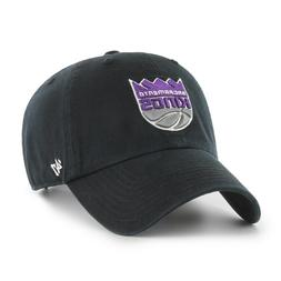 SACRAMENTO KINGS BLACK CAP 47 BRAND CLEAN UP STRAPBACK DAD H