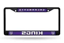 Sacramento Kings Black LBL Chrome Frame Metal License Plate
