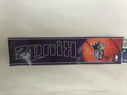 "Sacramento Kings Bumper Sticker 3""x12"" New WinCraft NBA"