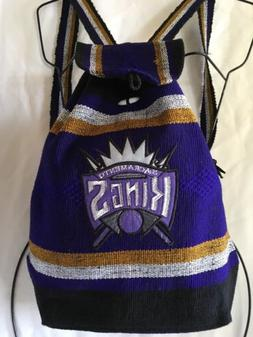 Sacramento Kings Handmade Backpack Purple Indian Style Cotto