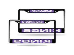 Sacramento Kings NBA Black Metal  Laser License Plate Frame