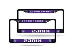 Sacramento Kings NBA Black Metal  License Plate Frame Set
