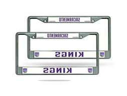 Sacramento Kings NBA Chrome Metal  License Plate Frame Set
