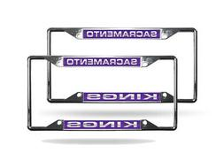 Sacramento Kings NBA  Chrome Metal Laser Cut License Plate F