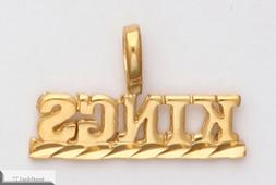 SACRAMENTO KINGS Necklace Pendant Charm 24K Gold Plated Team