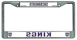Sacramento Kings New Des Chrome Frame Metal License Plate Ta