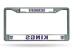Sacramento Kings New Design Chrome Frame Metal License Plate