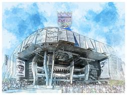 Sacramento Kings Poster Architectural Design Art Print Man C
