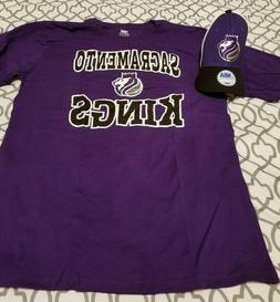 NBA Sacramento Kings Youth T Shirt and Hat Combo-Size M or X