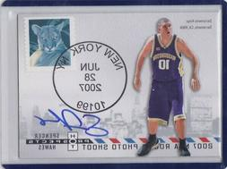 SPENCER HAWES 2007-08 HOT PROSPECTS POSTMARKED RC AUTO #/50